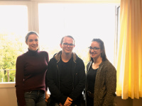 Die Studierenden Chiara von Perger, Tobias Bleckwehl, Kirsten Büsselmann