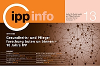 Neu erschienen: Jubiläumsausgabe des IPP-Info
